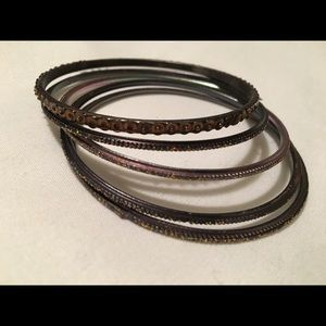 Sparkly Metal Bangles